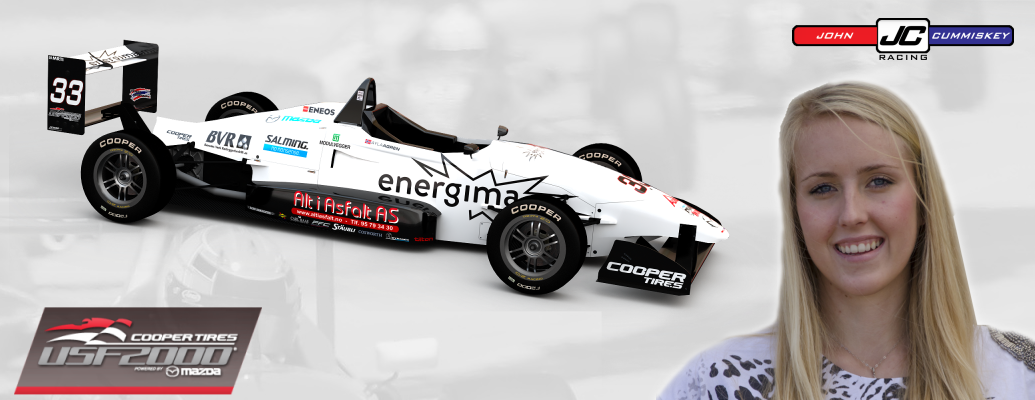 AYLA AGREN SIGNS WITH JOHN CUMMISKEY RACING FOR 2016 USF2000 CHAMPIONSHIP